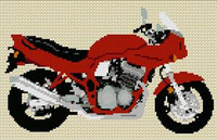 Suzuki Bandit Gsf 600S 1997 Motorcycle Cross Stitch Kit
