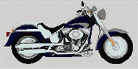 Harley Fat Boy Cross Stitch Kit