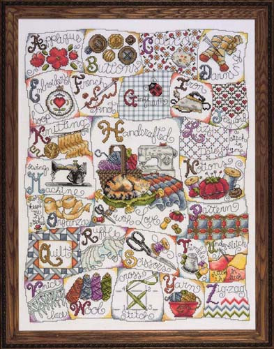 Stitching Abc Cross Stitch Kit By Design Works