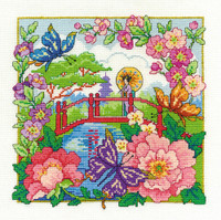 Oriental Landscape  Cross Stitch Kit By Dmc
