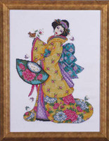 Golden Geisha Cross Stitch Kit By Design Works