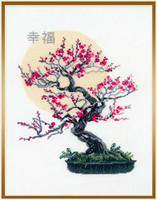 Bonsai Sakura Wish Of Well Being Cross Stitch Kit