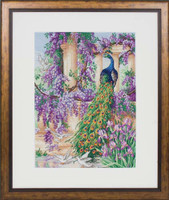 The Peacock Cross Stitch Kit