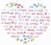 Love Is Patient Stamped Cross Stitch Kit