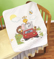 Animal Fun Ride Quilt Cross Stitch Kit By Janlynn
