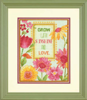 Painted Daisy Verse Cross Stitch Kit By Dimensions