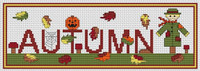 Autumn Word Cross Stitch Kit