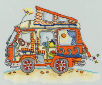 Sew Dinky Vw Van Cross Stitch Kit