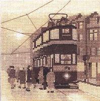 Tram Stop Cross Stitch Kit