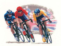 Cycle Race Cross Stitch Kit By Heritage