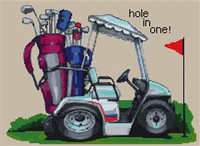 Hole In One Golfing Cross Stitch Kit