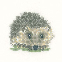 Hedghog Cross Stitch Kit For Beginners