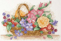 Floral Basket Starter Cross Stitch Kit