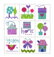 Gingham Sampler Cross Stitch Kit By Stitching Shed