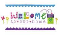 Welcome Cross Stitch Kit By Stitching Shed