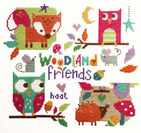 Woodland Friends Cross Stitch Kit By Stitching Shed