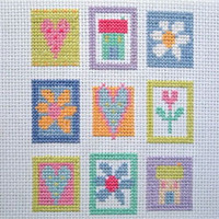 Patchwork Squares Cross Stitch Kit