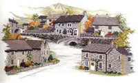 Derbyshire Village Cross Stitch Kit By Derwentwater