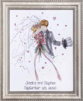 Wedding Couple Cross Stitch Kit By Design Works