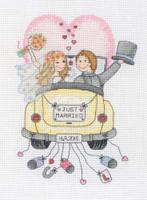 Just Married Sampler Cross Stitch Kit