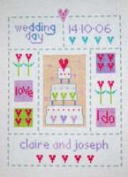 Cake Wedding Sampler Cross Stitch Kit