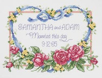 Married This Day Cross Stitch Kit