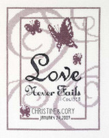 Love Never Fails Cross Stitch Kit - Janlynn