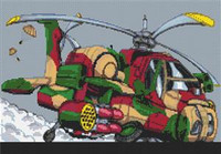 Longbow Helicopter Cross Stitch Chart
