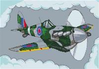 Spitfire Aeroplane Cross Stitch Chart