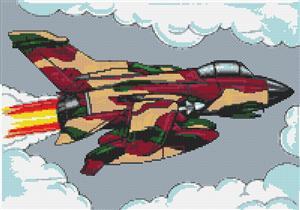 Tornado Aeroplane Cross Stitch Chart