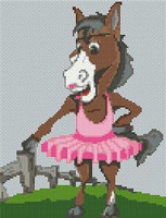 Horse Caricature Cross Stitch Chart