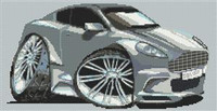 Aston Martin Dbs Caricature Cross Stitch Chart