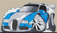 Bugatti Veyron Cross Stitch Chart