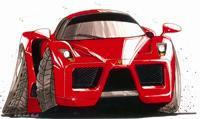Ferrari Enzo Caricature Cross Stitch Chart