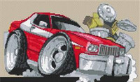 Ford Starsky & Hutch Cross Stitch Chart