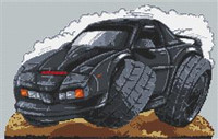Knight Rider Cross Stitch Chart