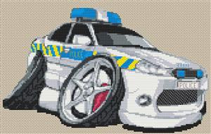 Mondeo Police Car Cross Stitch Chart