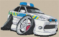 Mondeo Police Car Cross Stitch Chart