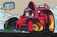 Pole Position Cross Stitch Chart