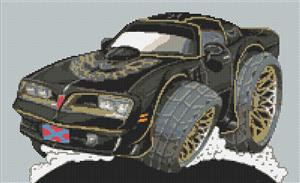 Pontiac Trans Am  Smokey And The Bandit  Cross Stitch Chart