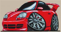Porsche 911 Gt Cross Stitch Chart
