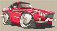 Volvo P1800 The Saint Car Cross Stitch Chart