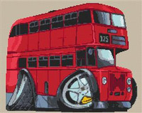 Routemaster Bus Cross Stitch Chart