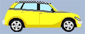 Chrysler Pt Taxi Cruiser Cross Stitch Chart