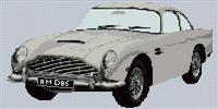 Aston Martin Db5 Cross Stitch Chart