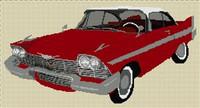 1958 Plymouth Fury (Christine) Cross Stitch Chart