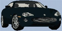 Jaguar Xk8 Coupe Cross Stitch Chart