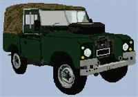 Landrover Series 2A Canvas Back Cross Stitch Chart