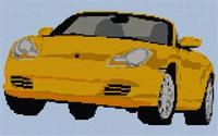 Porsche Boxster Cross Stitch Chart