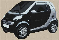 Fortwo Coupe Smart Car Cross Stitch Chart